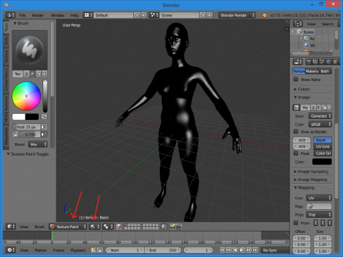 DocumentationTexture painting a skin in blender MakeHuman
